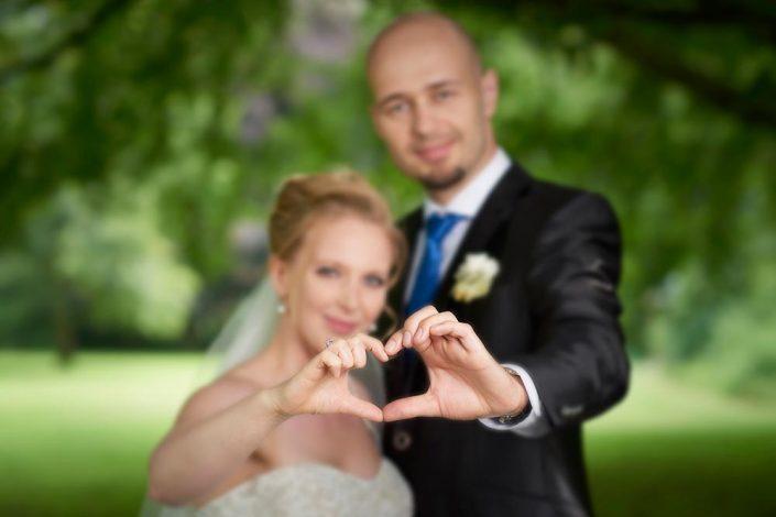 Bryllupsfotografi af brudepar