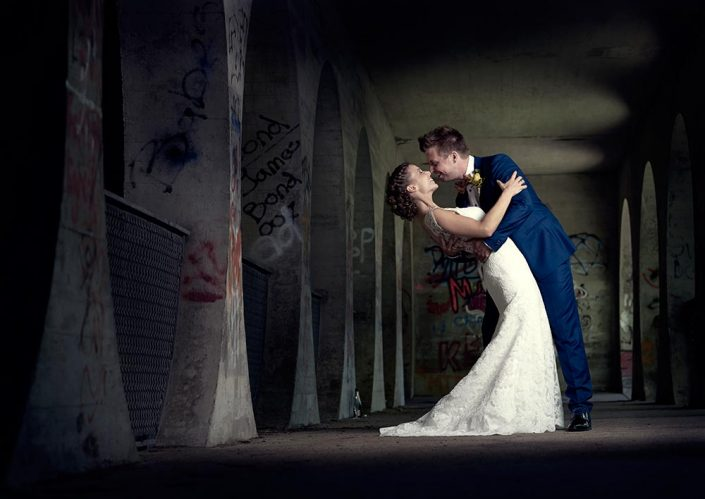 Dansende brudepar