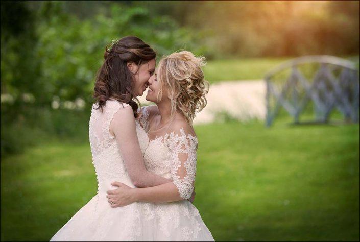 Lesbisk brudepar