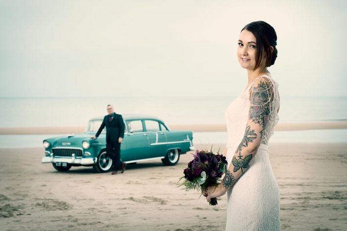 Bryllupsfotografi på stranden