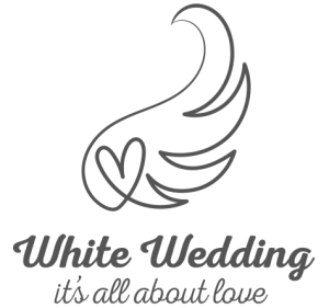 White Wedding logo - it's all about love